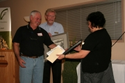 The 2012 Volunteer of the Year award was given to Lyle Burt of Boundary Security Service Ltd. Photo Erin Perkins.